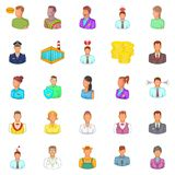Retail icons set, cartoon style Stock Image