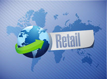 Retail international sign concept illustration. Design graphic Stock Photography