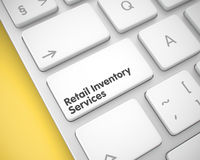 Retail Inventory Services on the White Keyboard Button. 3D. Stock Photos