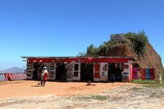 A Retail in Kenya. 08. October 2012 royalty free stock photography