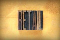 Retail Letterpress Stock Photography