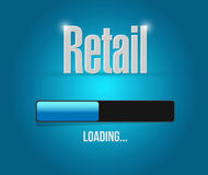 Retail loading bar sign concept illustration Stock Photo