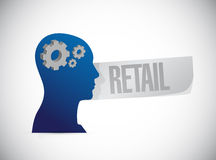 Retail mind sign concept illustration Stock Images