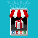 Retail Mobile Purchase Icon vector illustration