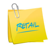 Retail post message sign concept Royalty Free Stock Photo