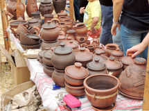Retail of pots Royalty Free Stock Image