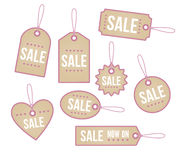 Retail price tags. A set of heart themed price tags Royalty Free Stock Images