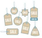Retail price tags Stock Photo