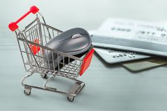 Retail. Affect anticipate bankruptcy basket book bookstore stock photos