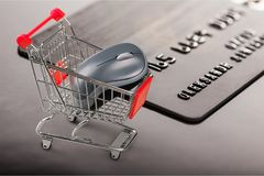 Retail. Affect anticipate bankruptcy basket book bookstore royalty free stock photos
