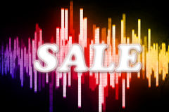 Retail SALE. Illustration of retail SALE with a halftone effect royalty free illustration