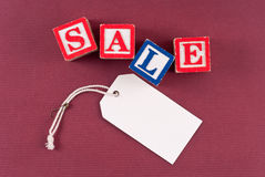 Retail Sale Discount Concept. With Blank Sales Tag stock photography