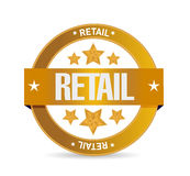 Retail seal sign concept illustration design Royalty Free Stock Image