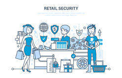 Retail security. Shopping, online ordering system of products, secure payments. Stock Photography