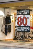 Retail Sell Off. Recession hits retail with sell offs of inventory royalty free stock photography