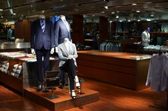 Retail shop. That sell business suit Stock Photography