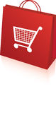 Retail shopping bag Royalty Free Stock Images