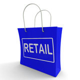Retail Shopping Bag Shows Buying Selling Royalty Free Stock Photo