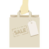 Retail shopping bag, stamped as a promotional sale Stock Photography