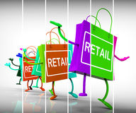 Retail Shopping Bags Show  Commercial Sales and Commerce Royalty Free Stock Photo
