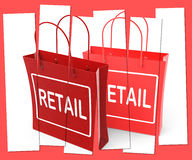 Retail Shopping Bags Show  Commercial Sales and Commerce Royalty Free Stock Image