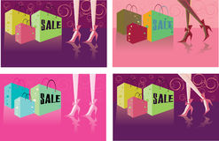 Retail shopping card backgrounds Stock Image