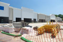 Retail Shopping Center Construction Site Stock Image