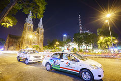 Taxi in Vietnam at night Stock Images