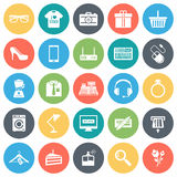Retail Shopping Minimal Icon Set Stock Image