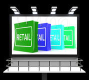 Retail Shopping Sign Shows Buying Selling Merchandise Sales Royalty Free Stock Photos