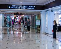 Retail shops in the Flamingo Hilton hotel & resort. In Las Vegas, Nevada stock photos