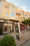 Retail shops in the old Varna in Bulgaria Royalty Free Stock Images