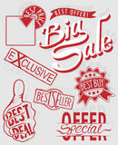 Retail sign. Collection of retail signage in vector illustration Royalty Free Stock Images