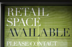 Retail space available Stock Photography