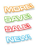 Retail Stickers. Decal Set for Retail Marketing Royalty Free Stock Photo