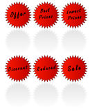 Retail stickers Royalty Free Stock Photography