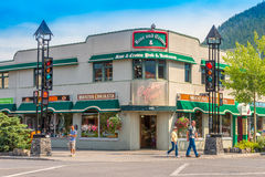 Retail Store Architecture of Banff. Alberta Royalty Free Stock Images