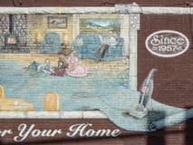 Retail store mural Stock Image