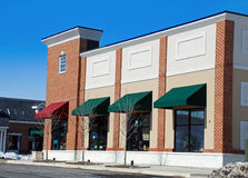 Retail Storefront. Newly built store with brick and stucco Stock Image