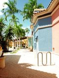 Retail stores in South Florida. Stores in strip center shopping plaza Stock Photo
