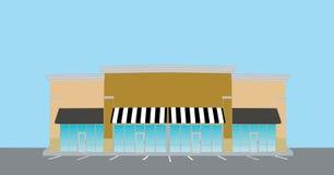 Retail strip mall royalty free illustration