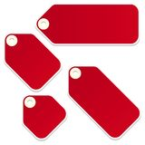 Retail swingers. Vector blank retail tags isolated on a white background Royalty Free Stock Photos