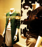 Retail therapy. Retail window fashion display, stylized and cross processed Royalty Free Stock Photos