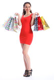Retail therapy for sexy young woman shopping Royalty Free Stock Image