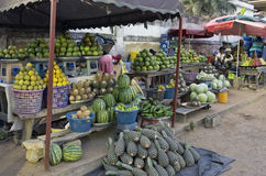 Retail trade in fruit and vegetables Stock Images
