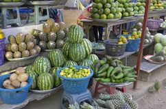 Retail trade in fruit and vegetables Royalty Free Stock Image