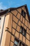 Traditional alsatian facades of medieval building. Retail of traditional alsatian facades of medieval building stock photos