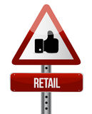 Retail warning sign concept illustration design Royalty Free Stock Photos