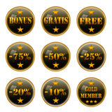Retail web buttons. Stock Image