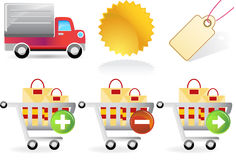 Retail Website Icons Royalty Free Stock Photos